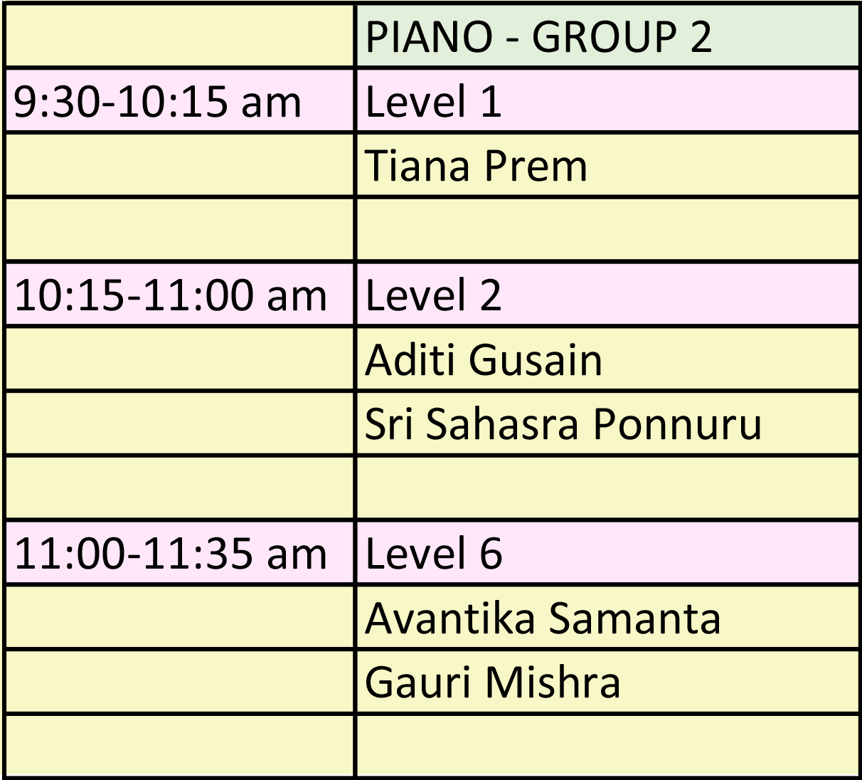Illinois Music Society Competition Schedule Piano Group Two